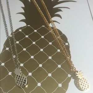 NEW Pineapple grid necklace in silver